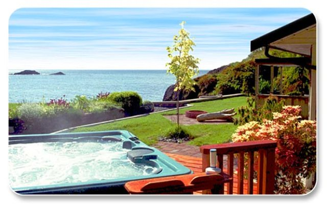 View of Pacific Ocean From The Hot Tub