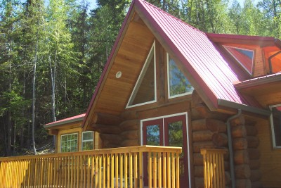 Private Log Cabin, Shuswap Lake